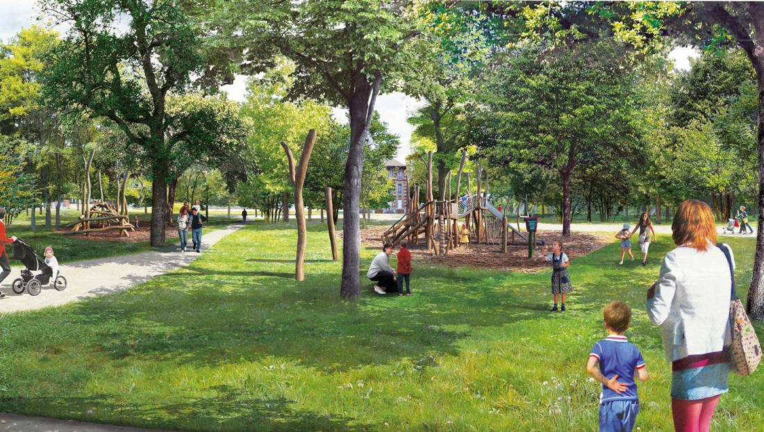 perspective - parc princesse Le Vesinet